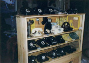 My telephone collection in 1992.